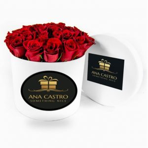Caja redonda luxury blanca