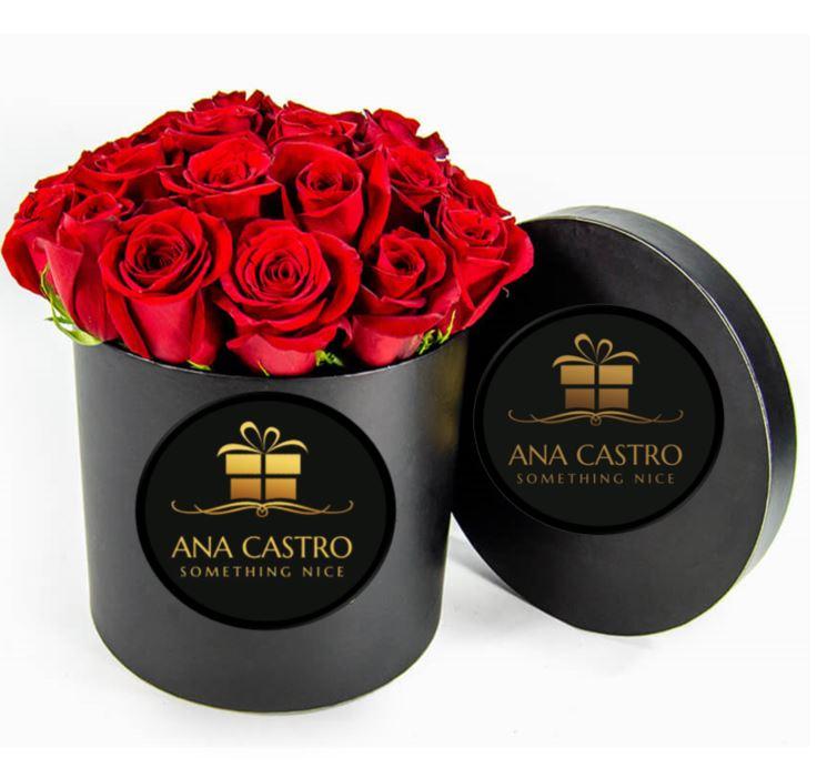 Caja redonda luxury negra